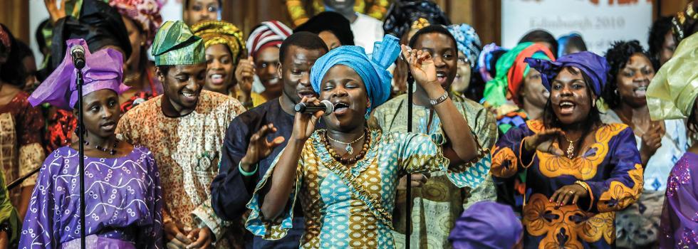 Choir from Scottish African Churches at 'Edinburgh 2010', © Gary Doak
